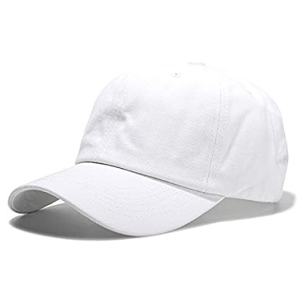 47280ba25 Buy Handcuffs Elasticized-Fabric Cotton Adjustable Plain Baseball Cap  (White) Online at Low Prices in India - Amazon.in