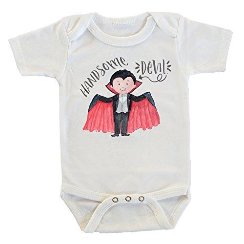 Vampire Images Costumes (Handsome Devil Dracula Onesie/Bodysuit, Halloween Onesie, Boy Onesie, Vampire Baby Costume (12-18 Months))
