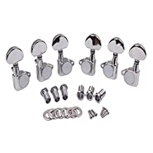 MonkeyJack 6 Pieces 3R 3L Guitar String Tuning Pegs Keys Machine Heads for Acoustic Electric Guitar Parts