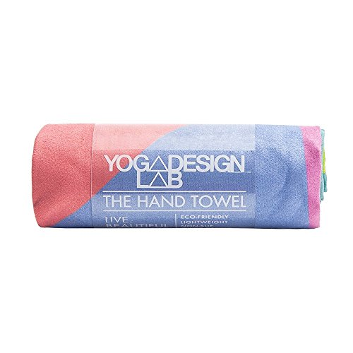 The Hand Towel. Beautiful, Lightweight, Ultra Absorbent, Non-slip, Microfiber Towel that Dries in Minutes! Yoga, Bikram, Hot Yoga, Pilates. Machine Washable. Made w/ Water Based Inks. (Geo)