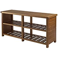 Loon Peak Katmai Wood Storage Entryway Bench, Teak