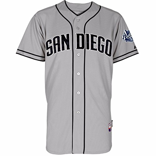 Field Cool Base Jersey - San Diego Padres MLB Majestic Men's Gray Authentic On-Field Cool Base Jersey (44)