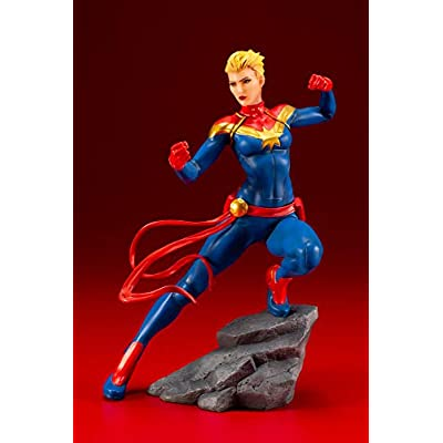 Marvel Universe Avengers Series: Captain Marvel Artfx+ Statue: Toys & Games