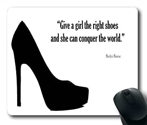 wskshop Shoes Mouse Pad, New Fashion Give A Girl The Right Shoes Mouse Pad Rectangle Mousepads 06 by icecream design