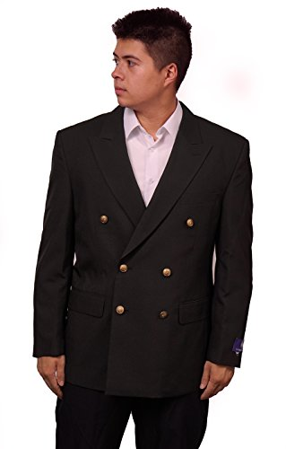 New Mens Black Double Breasted Dinner Blazer Suit Jacket