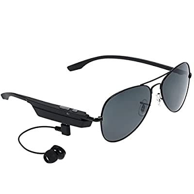 Bluetooth Glasses Smart Sunglass Handsfree Make Calls Listen Music Voice Control Headphone