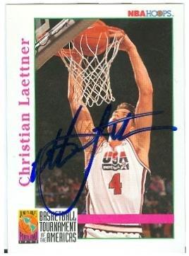 - Christian Laettner autographed basketball card (USA Dream Team) 1992 Skybox #342