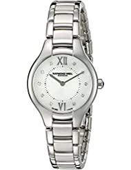 Raymond Weil Womens Noemia Swiss Quartz Stainless Steel Dress Watch, Color:Silver-Toned (Model: 5127-ST-00985)
