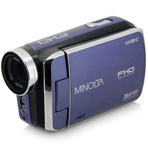 Minolta MN50HD 1080p HD Video Camera Camcorder (Blue) Includes 8GB Card