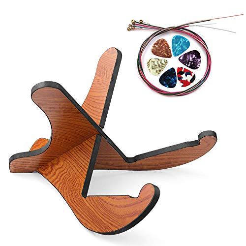 - Guitar Stand, Universal Acoustic Guitar Stand Wooden Guitar Rack with Guitar Picks and Guitar String, Portable Detachable Guitar Holder X-Frame Style Rubber Covered for Acoustic Classical Bass Guitars