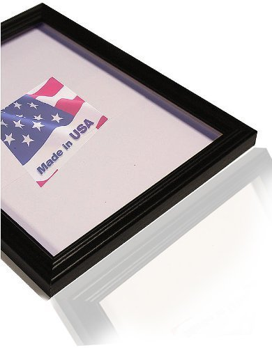 US Art 24x30 Custom Made Thin Black Picture Poster Frame Solid Wood .75 inch Wide Moulding