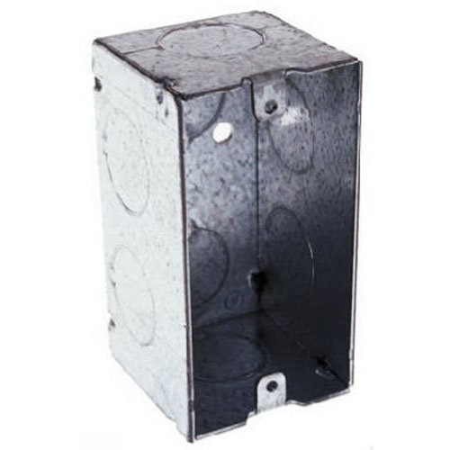 Hubbell-Raco 674 2-1/8-Inch Deep Handy Electrical Box with 6 x 3/4-Inch Knockouts and Welded, 4-Inch x ()