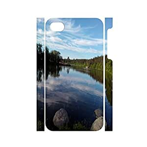 Custom Natural Scenery Series River Graphic Tough Hard Platsic Protective Case For Iphone 4 4s by supermalls