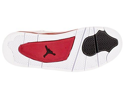 Nike Uomo Air Jordan 4 Retro Scarpe Sportive Bianco / Nero / Rosso (Bianco / Nero-gym Red)