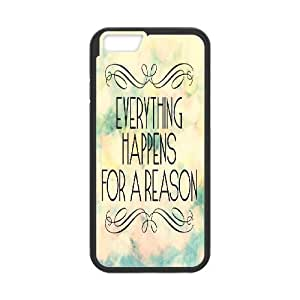 """Qxhu everything happens for a reason Protective Snap On Hard Plastic Case for Iphone6 Plus 5.5"""""""