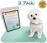 Kluein Pet Washable Dog Pee Pads - Absorbent Waterproof Reusable Puppy Pads - 2-Pack 18 x 24 inch - Pet Food Mat - Dog Crate Mat - Cat Mat - Potty Training - Travel