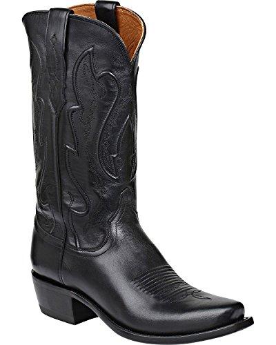 Lucchese Men's Handmade 1883 Cole Cowboy Boot Square Toe Black 9 D(M) US