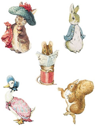 Wallies Beatrix Potter Character Wallies Wallpaper Cutouts