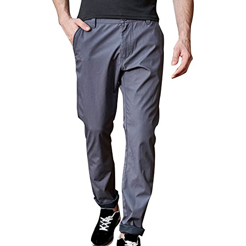 Any Time Chino Pant (Miskely Men's Straight Slim Fit Cotton Casual Athletic Pants Fashion Business Work Stretch Chino Trousers Plus Size (30, Grey))