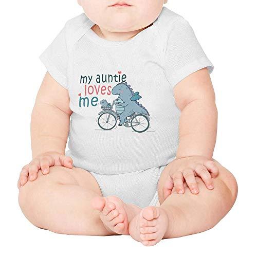 - Toda Mafalda Baby Girl Boy Bodysuit My Auntie Loves Me Elephant Aunt Gifts White