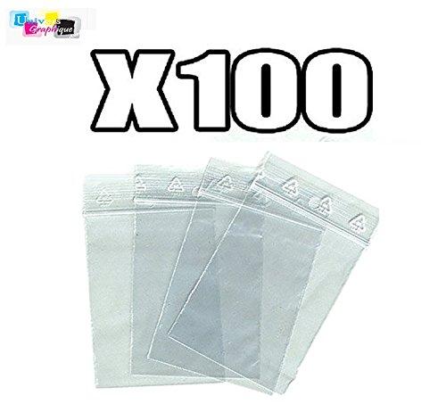 50 microns pr/él/èvement 4 x 6 cm pochettes qualit/é alimentaire Lot 100 sachets /à fermeture zip format 40 x 60 mm aux normes europ/éennes de production plastique
