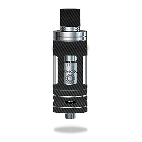 Decal Sticker Skin WRAP - Smok TFV4 Mini Tank - Carbon Fiber Black Grey Pattern Background