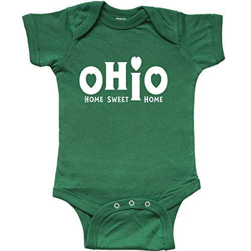 inktastic - Ohio Sweet Home White Text Infant Creeper 6 Months Kelly Green 339c7 ()