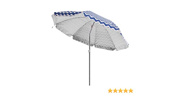 Sombrilla de Playa Plegable Azul de poliéster de 220 cm. - LOLAhome