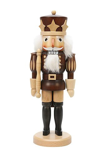 German Christmas Nutcracker Prince natural colors - 38,5 cm / 15 inch - Christian Ulbricht by Authentic German Erzgebirge Handcraft