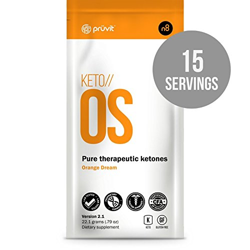 KETO//OS Orange Dream 2.1 No Caffeine, BHB Salts Ketogenic Supplement - Beta Hydroxybutyrates Exogenous Ketones for Fat Loss, Workout Energy Boost and Weight Management through Fast Ketosis, 15 Sachet