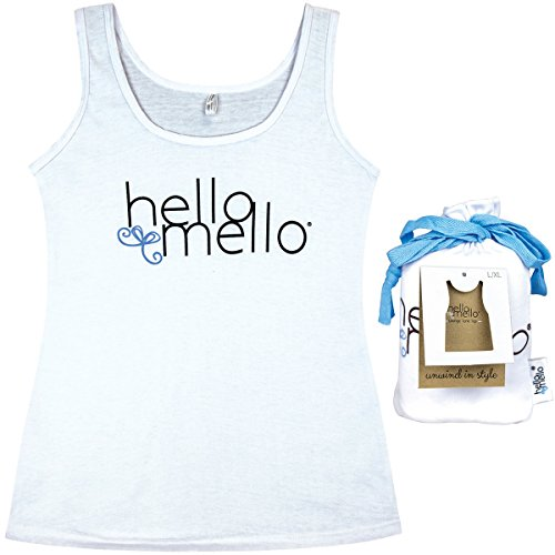 Hello Mello Trendy Womens Loungewear Tank Top with Tote Bag