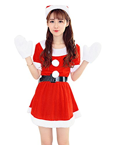 [YeeATZ Festival Sexy Christmas Party Cosplay Outfit] (Mr And Mrs Claus Dog Costumes)