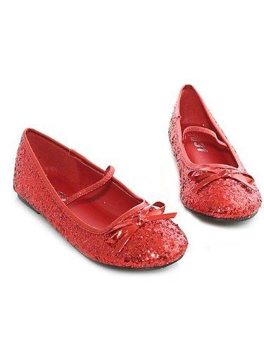 [Glitter Flat Ballet (Red) Child Shoe Size Medium] (Gothic Ballerina Halloween Costumes)