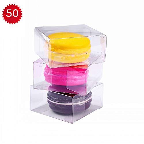 RomanticBaking 50pcs Clear Single Macaron Box For Wedding