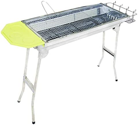 Barbecue-Grill,Holzkohle Dicker Edelstahl Haushaltsklappbarer tragbarer Barbecue-Grill,112X30X71CM @ (Farbe: A)