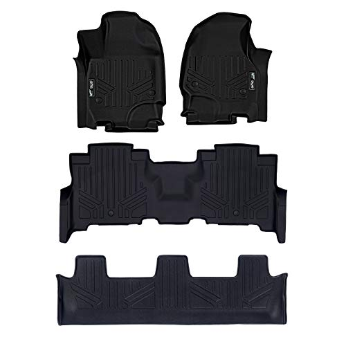 MAX LINER A0350/B0351/C0351 Floor Mats 3 Liner Set Black for 2018-2019 Expedition/Navigator with 2nd Row Bench Seat (Incl. Max and L) ()