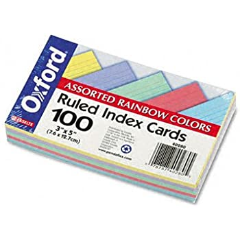 Oxford Oxford 40280 Rainbow Pack Index Card