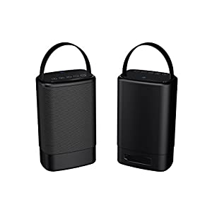 Sylvania SP096-Black Portable Outdoor Dual Bluetooth Speakers-Set of 2 Speakers (Certified Refurbished)