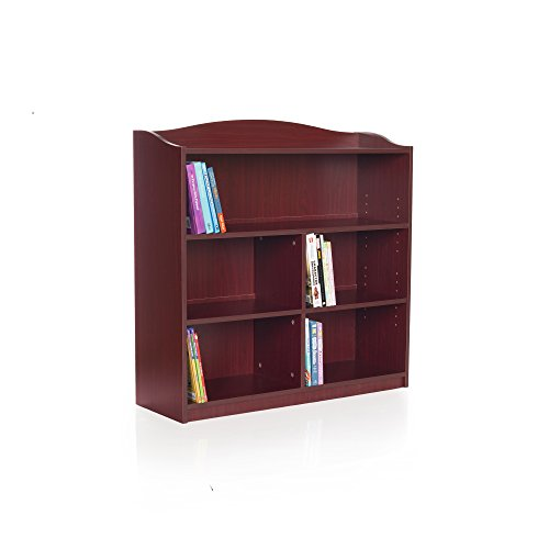 Guidecraft Wood Shelf - Guidecraft 5-Shelf Cherry Bookcase - Adjustable Shelves, Home & Office Organizer Furniture, Book Display
