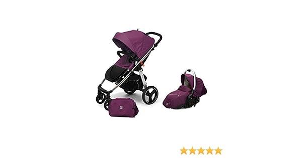 Casualplay Match 2 Loop - Silla de paseo con chasis de aluminio + Sono, color plum: Amazon.es: Bebé