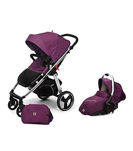Casualplay Match 2 Loop - Silla de paseo con chasis de aluminio + Sono, color plum