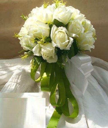 [아이 에스 피] isp 웨딩 부케 신부 꽃 흰색 화이트 장미 조화 부케
