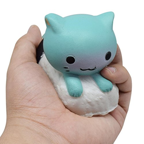 Vanvler 1PC Sushi Cat Squishy Cartoon Toy Slow Rising Scented Gift Decompression Toys