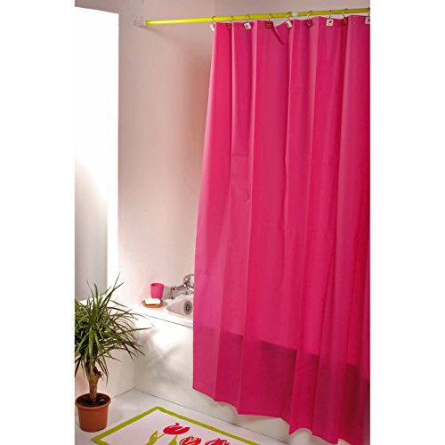 United Linens 10 Gauge HEAVY DUTY Shower Curtain Liner neon Magenta,72x72, PEVA, , Mildew Free, Resistant, Mold Resistant , Eco Friendly , Vinyl , No Chemical Odor liner (Shower Curtain Liners Colored)