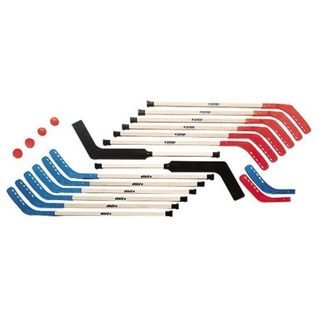 Floor Hockey Sets - Shield Middle School Wooden Hockey Set