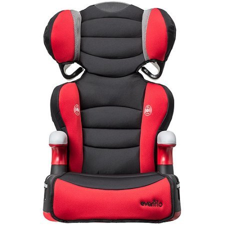 Evenflo Big Kid High Back Booster Car Seat | Equipped with 2 Cup Holders for Different Types of Drinks or Snacks, Denver