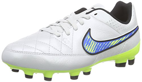 volt White 174 Nike Firm Football Ground Boots Kids' soar Unisex White black Tiempo Genio Leather CC6PzZUq