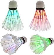 Hainice LED Badminton Colorful Goose Feather Shuttlecock Dark Night Glow Birdies Lighting for Outdoor Indoor S