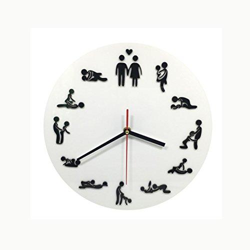 Sutra Sex Position Clock 24Hours Sex Clock Novelty Wall Clock Make Love Clock Wedding Gift by Wall clock shop