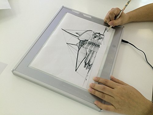JUNLON A5 Aluminum LED Light Box Pad Great Variety Tracing Board Table for Drawing Artists Stencil Tattoo Artcraft Tracing Animation Extremely Bright Adjustable Brightness in 0.67 Thickness